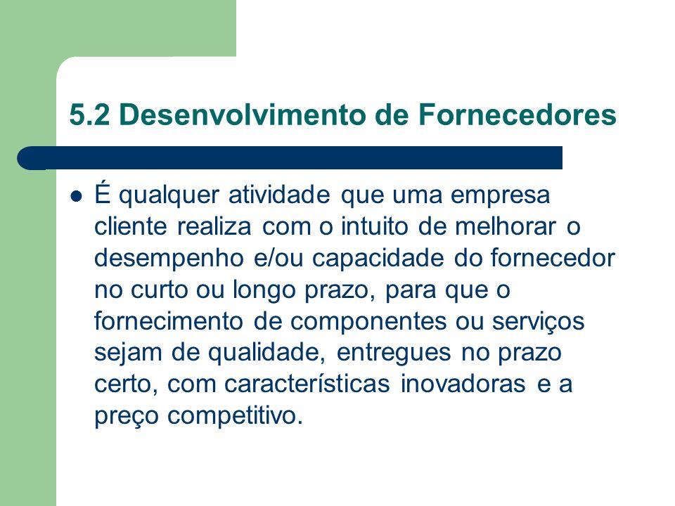 5.2 Desenvolvimento de Fornecedores