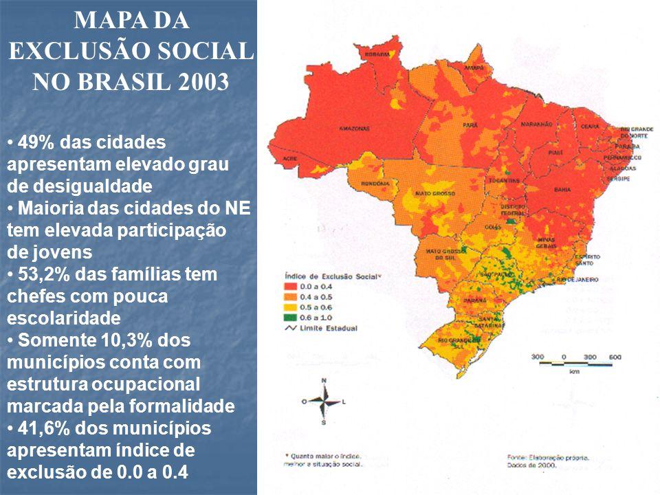 MAPA DA EXCLUSÃO SOCIAL NO BRASIL 2003