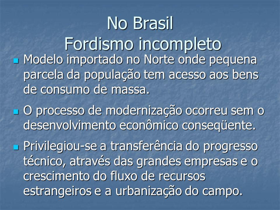 No Brasil Fordismo incompleto
