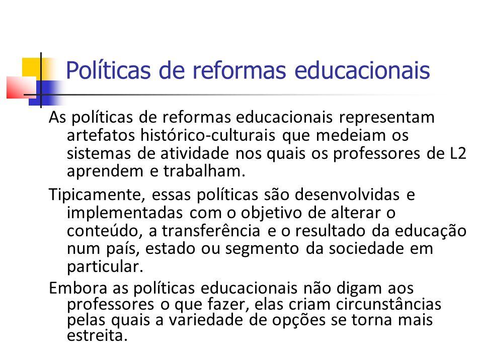 Políticas de reformas educacionais