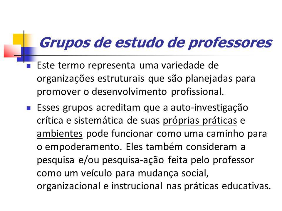 Grupos de estudo de professores