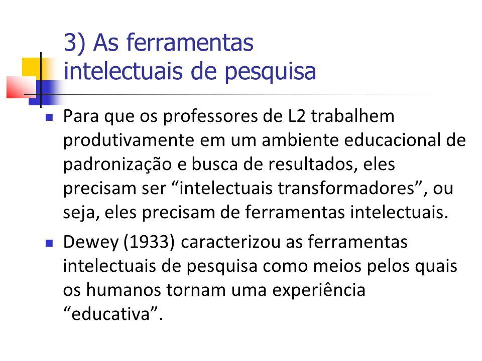 3) As ferramentas intelectuais de pesquisa