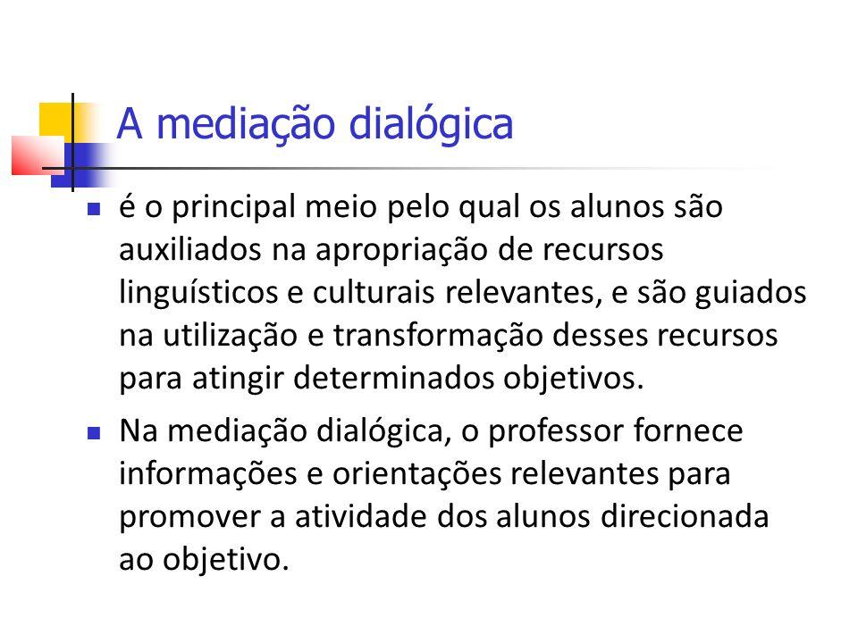A mediação dialógica