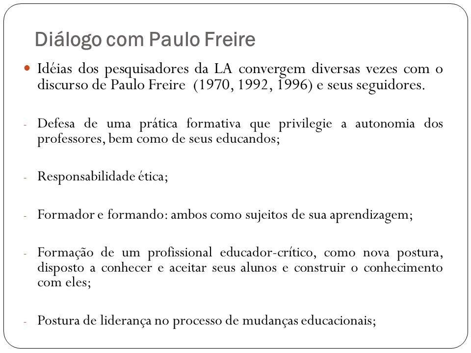 Diálogo com Paulo Freire