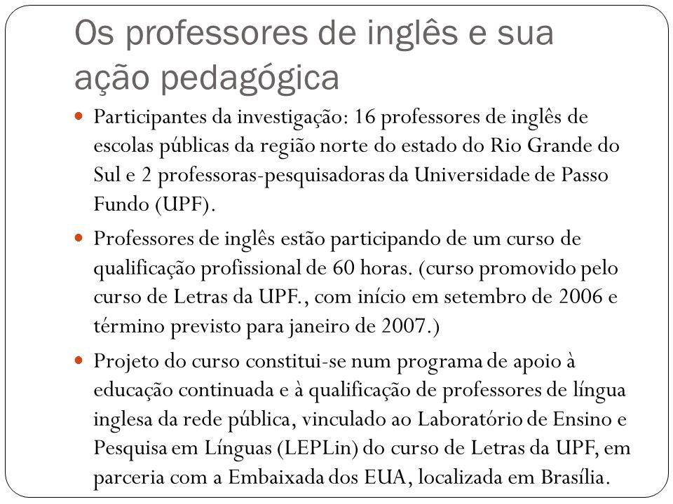 Os professores de inglês e sua ação pedagógica