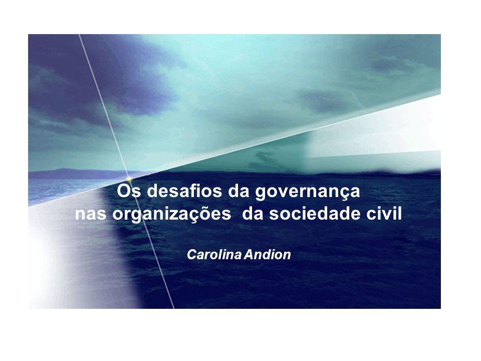 Os desafios da governança nas organizações da sociedade civil