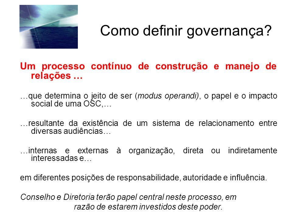 Como definir governança