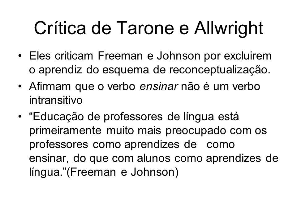 Crítica de Tarone e Allwright
