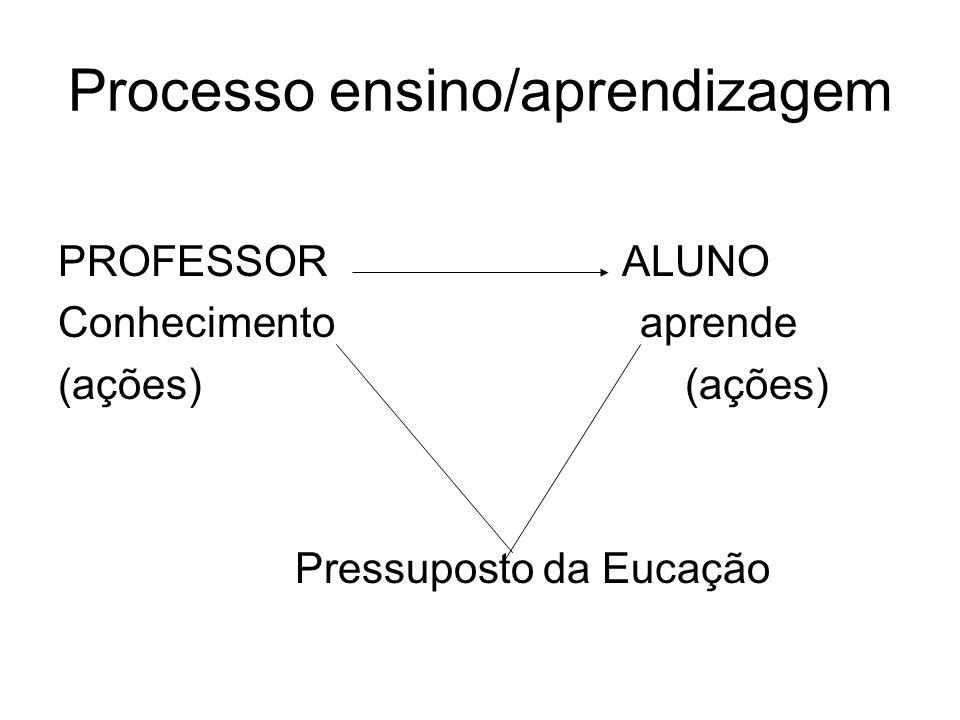 Processo ensino/aprendizagem