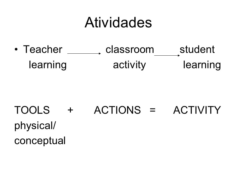 Atividades Teacher classroom student learning activity learning