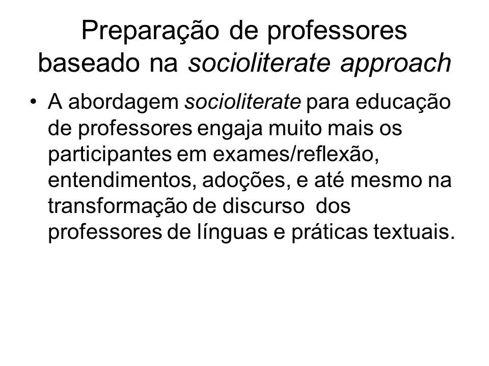 Preparação de professores baseado na socioliterate approach
