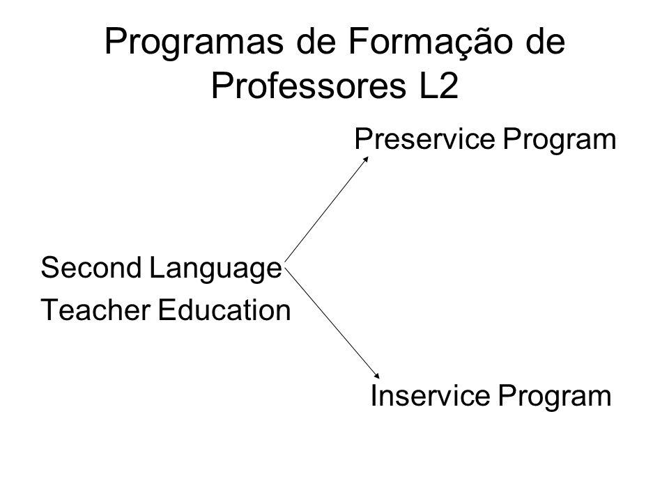 Programas de Formação de Professores L2