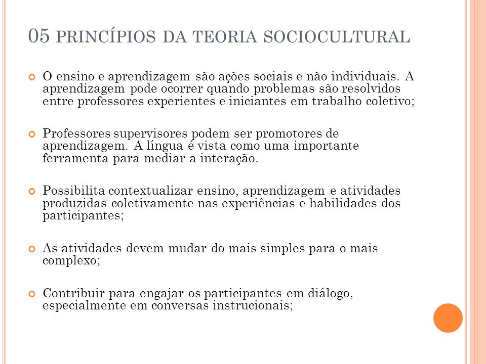 05 princípios da teoria sociocultural