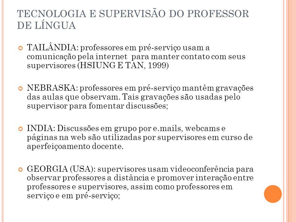 TECNOLOGIA E SUPERVISÃO DO PROFESSOR DE LÍNGUA
