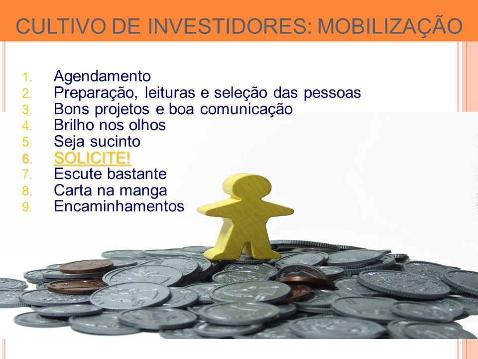 CULTIVO DE INVESTIDORES: MOBILIZAÇÃO