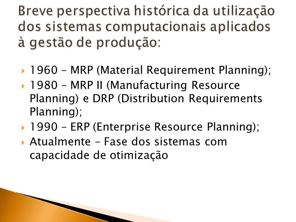 Breve perspectiva histórica da utilização dos sistemas computacionais aplicados à gestão de produção: