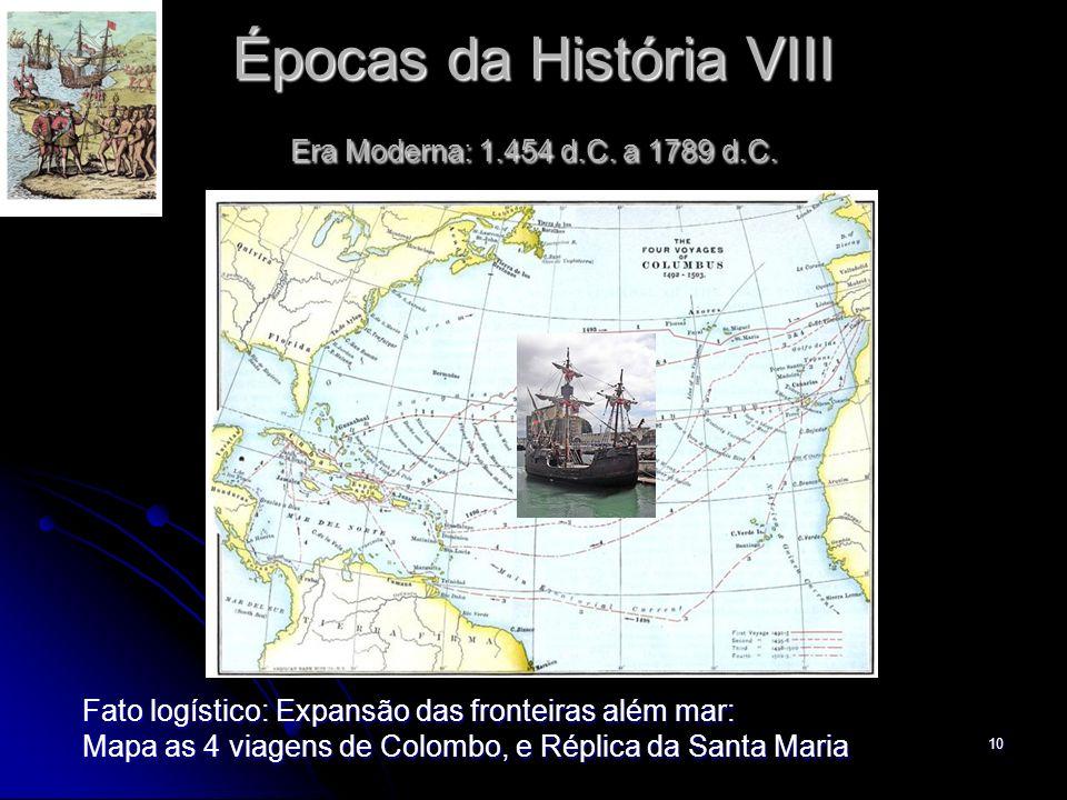 Épocas da História VIII Era Moderna: 1.454 d.C. a 1789 d.C.