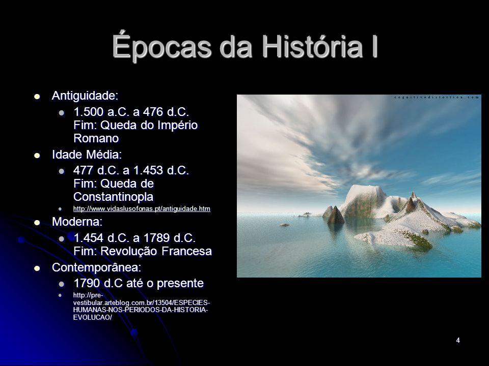 Épocas da História I Antiguidade: