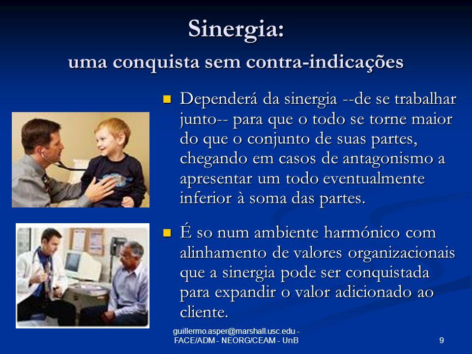 Sinergia: uma conquista sem contra-indicações