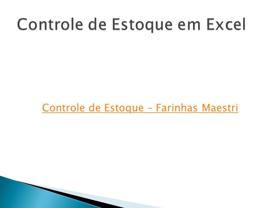 Controle de Estoque em Excel