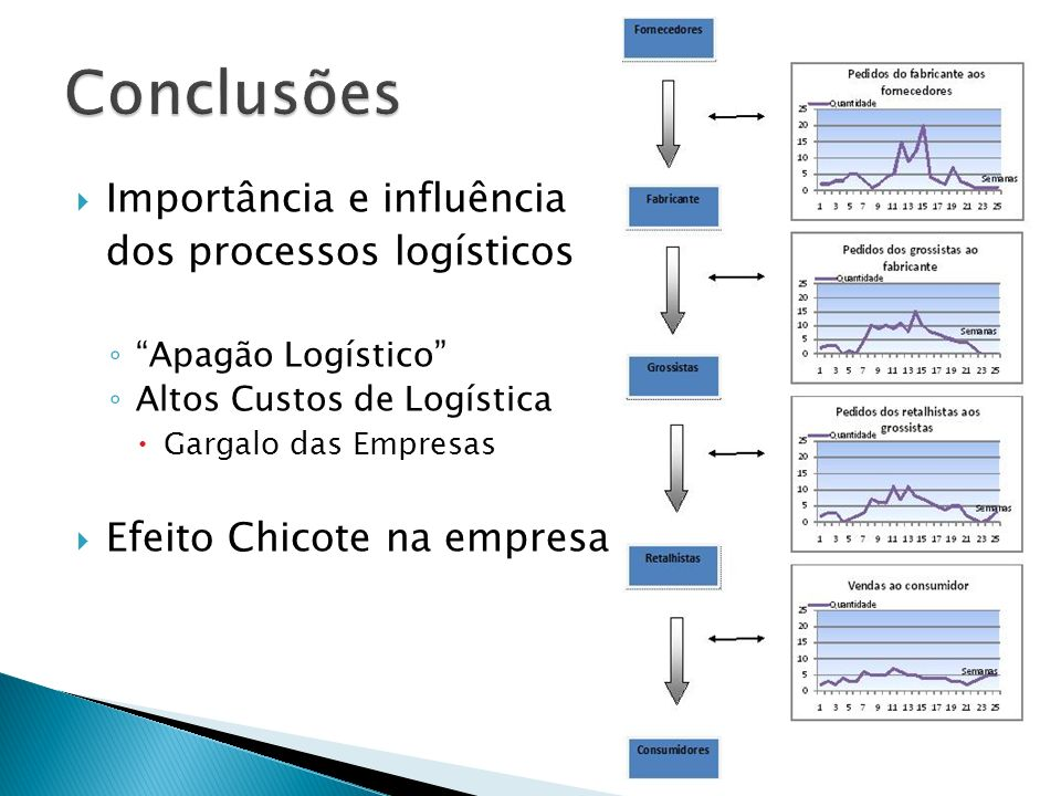 Conclusões Importância e influência dos processos logísticos
