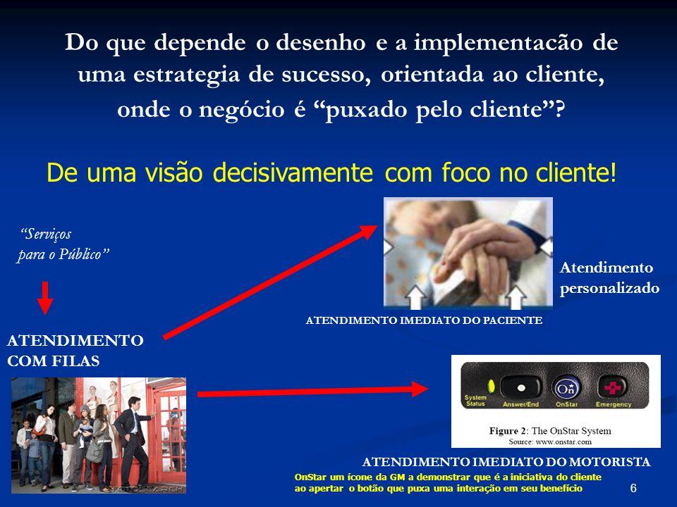 De uma visão decisivamente com foco no cliente!