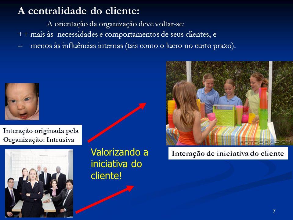 A centralidade do cliente:
