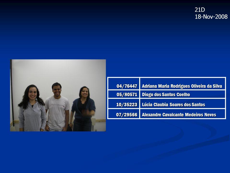 21D 18-Nov-2008 04/76447 Adriana Maria Rodrigues Oliveira da Silva