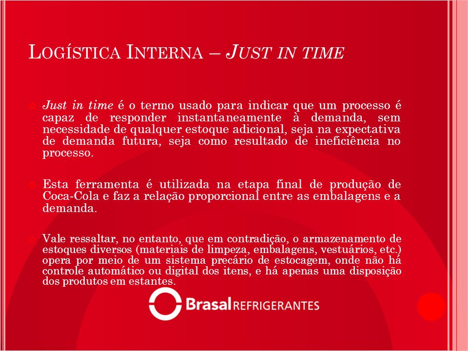 Logística Interna – Just in time