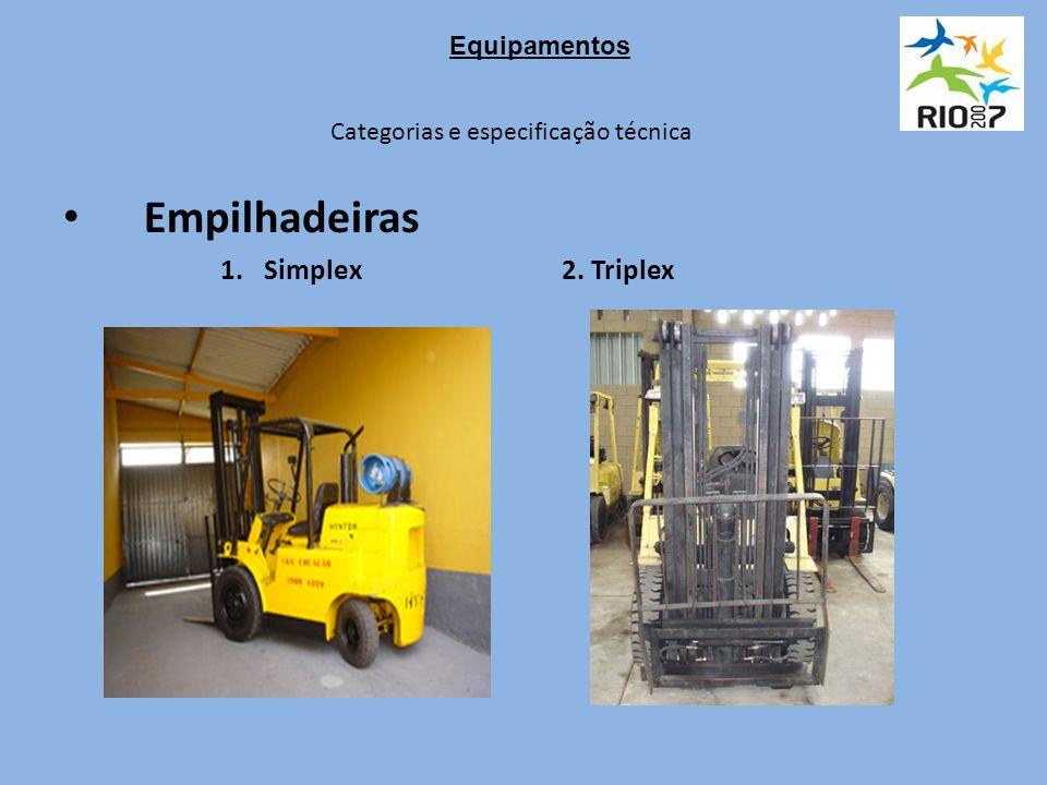 Categorias e especificação técnica