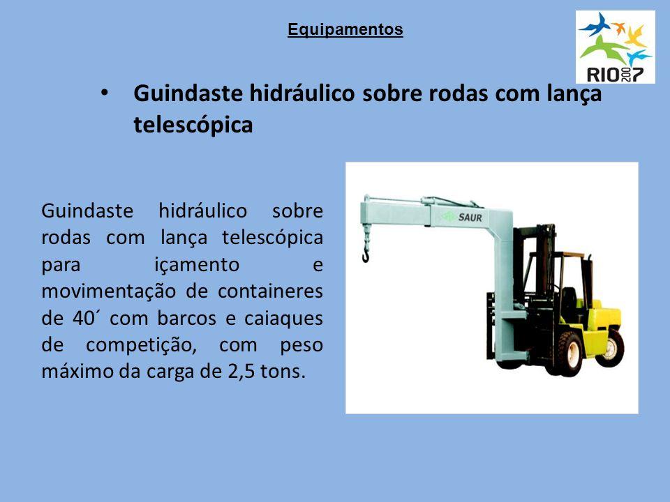 Guindaste hidráulico sobre rodas com lança telescópica