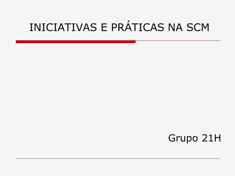 INICIATIVAS E PRÁTICAS NA SCM