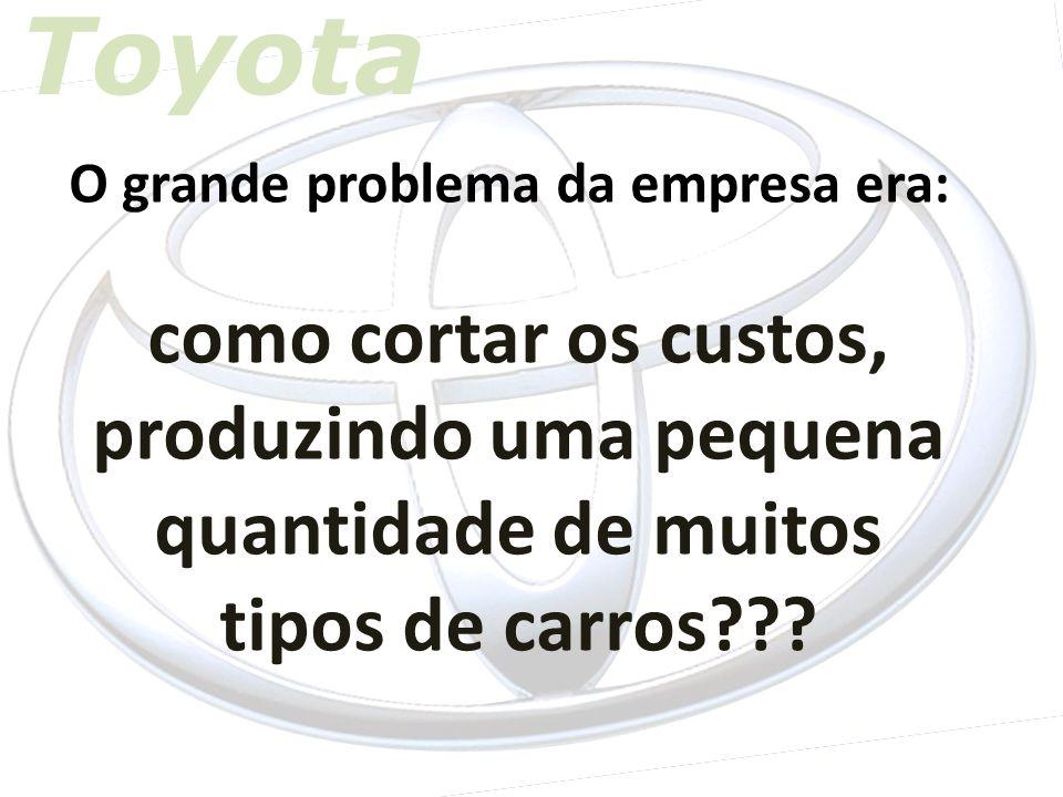Toyota O grande problema da empresa era: como cortar os custos, produzindo uma pequena quantidade de muitos tipos de carros