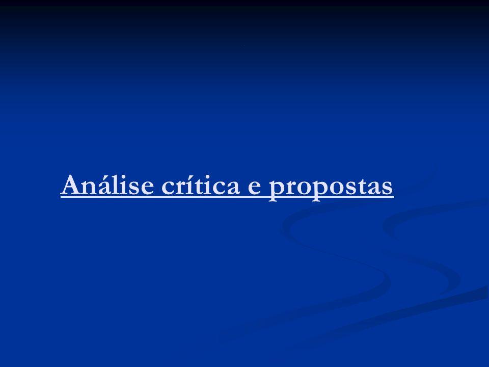 Análise crítica e propostas