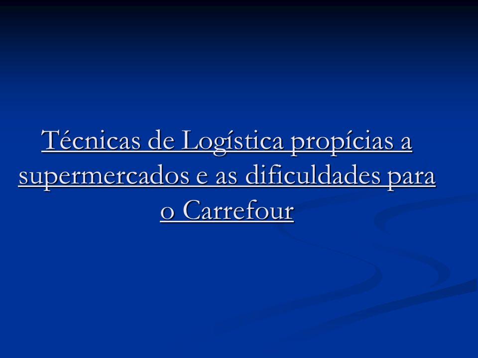 Técnicas de Logística propícias a supermercados e as dificuldades para o Carrefour