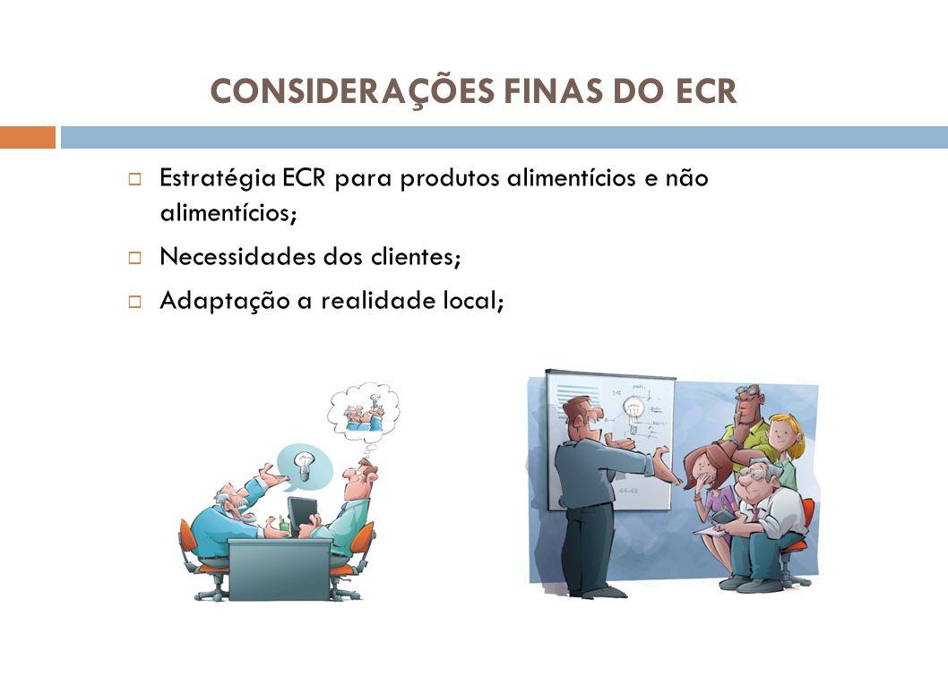 CONSIDERAÇÕES FINAS DO ECR