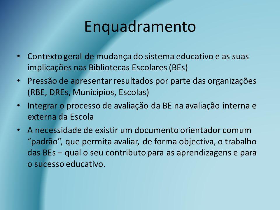 Enquadramento Contexto geral de mudança do sistema educativo e as suas implicações nas Bibliotecas Escolares (BEs)