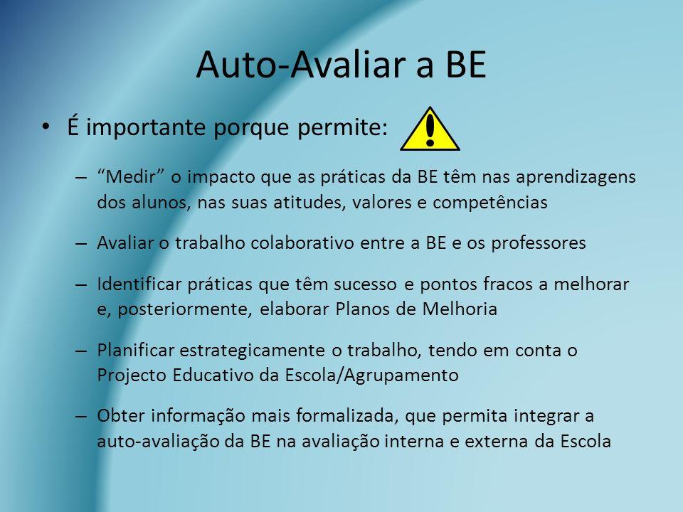 Auto-Avaliar a BE É importante porque permite: