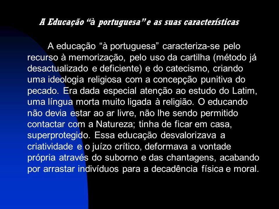 A Educação à portuguesa e as suas características