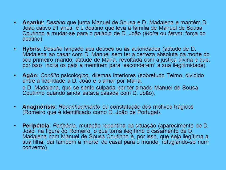 Ananké: Destino que junta Manuel de Sousa e D. Madalena e mantém D
