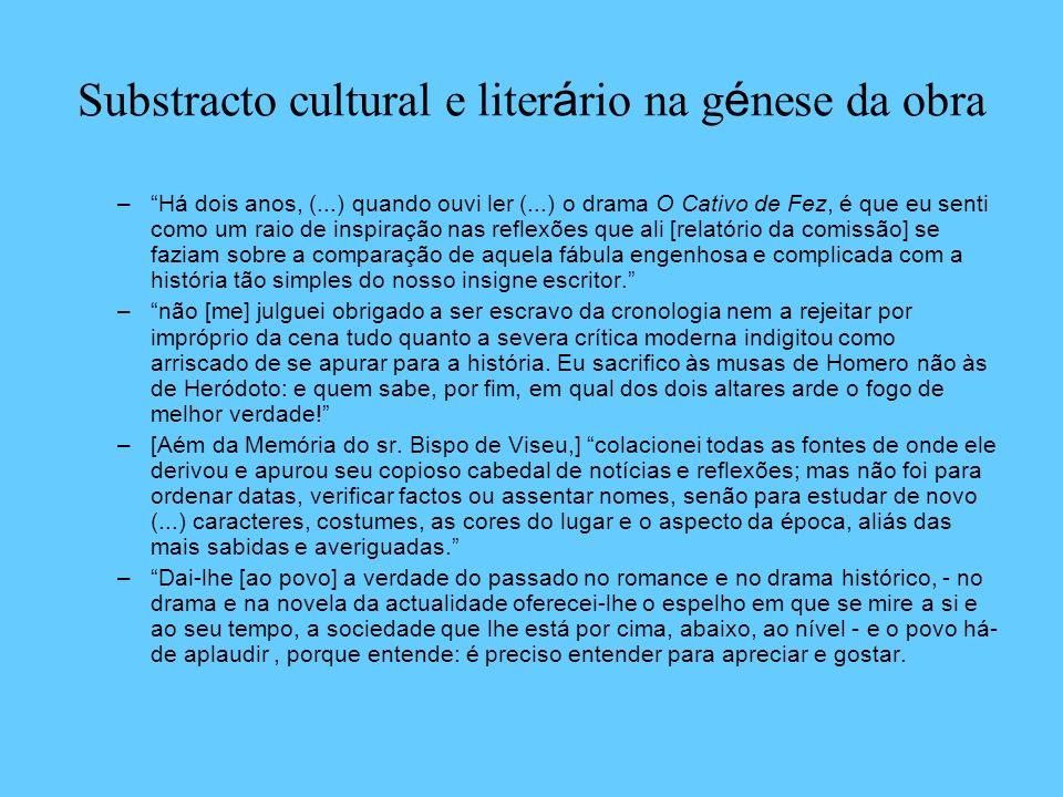 Substracto cultural e literário na génese da obra