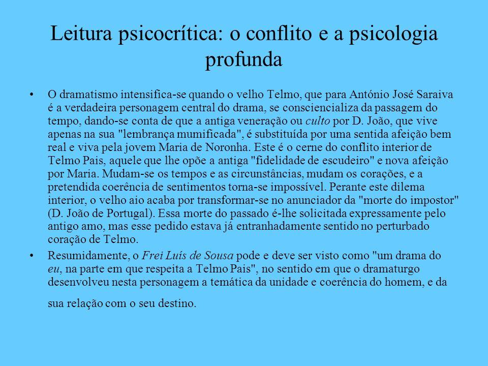 Leitura psicocrítica: o conflito e a psicologia profunda