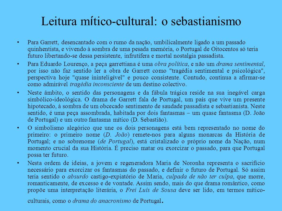Leitura mítico-cultural: o sebastianismo