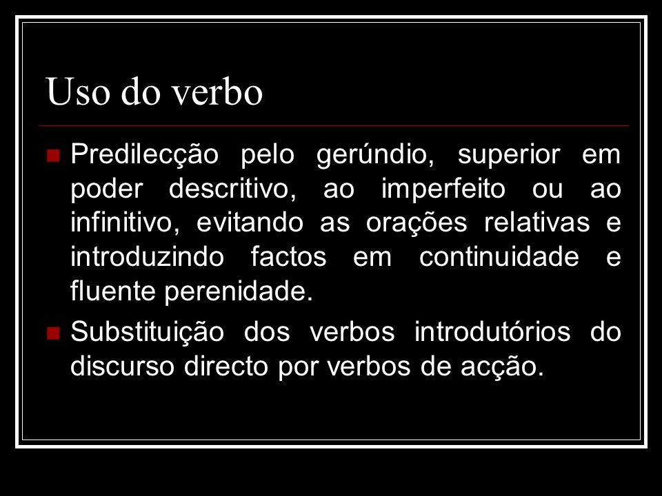 Uso do verbo