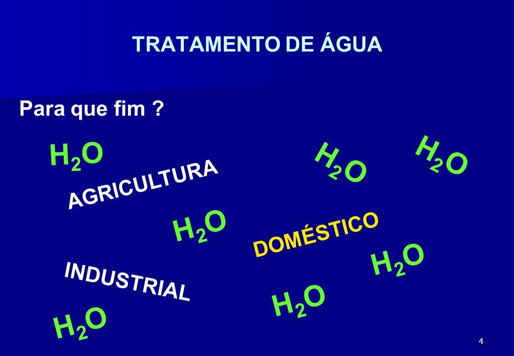 H2O H2O H2O H2O H2O H2O H2O TRATAMENTO DE ÁGUA Para que fim