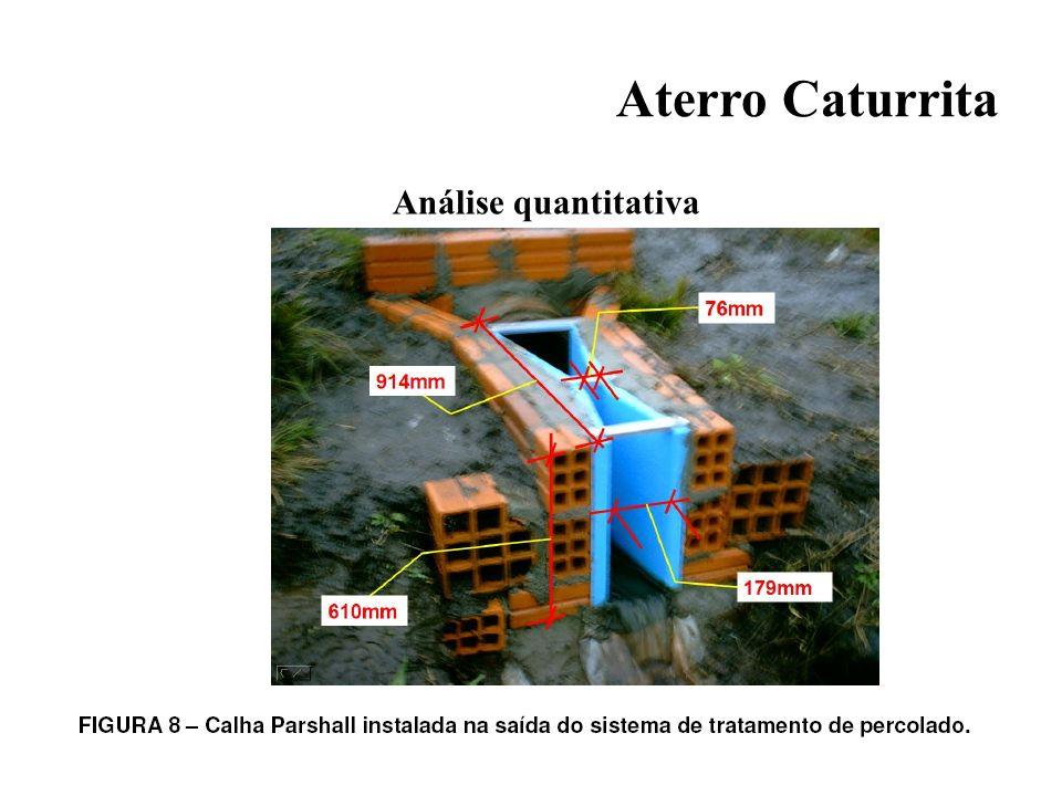 Aterro Caturrita Análise quantitativa