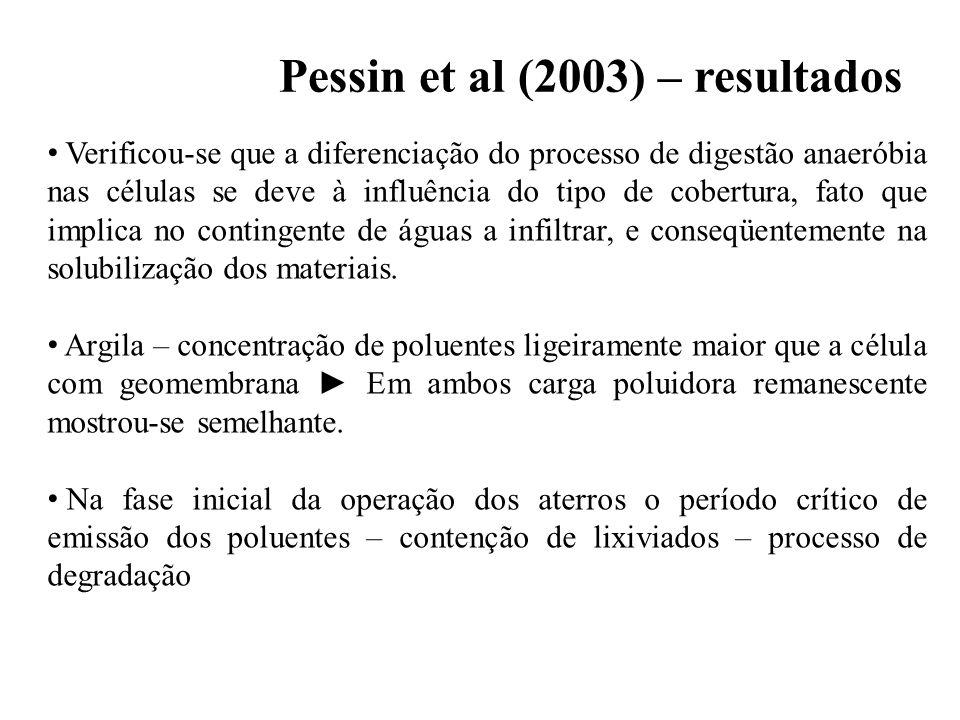 Pessin et al (2003) – resultados