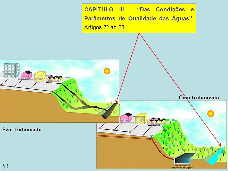 CAPÍTULO III - Das Condições e Parâmetros de Qualidade das Águas , Artigos 7º ao 23.