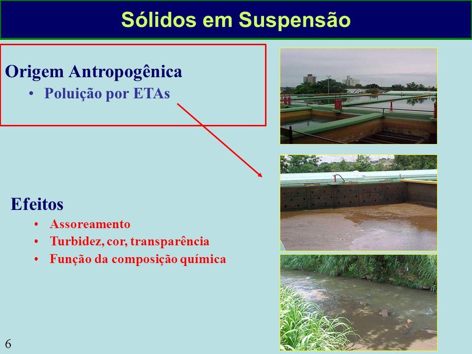 Sólidos em Suspensão Origem Antropogênica Efeitos Poluição por ETAs