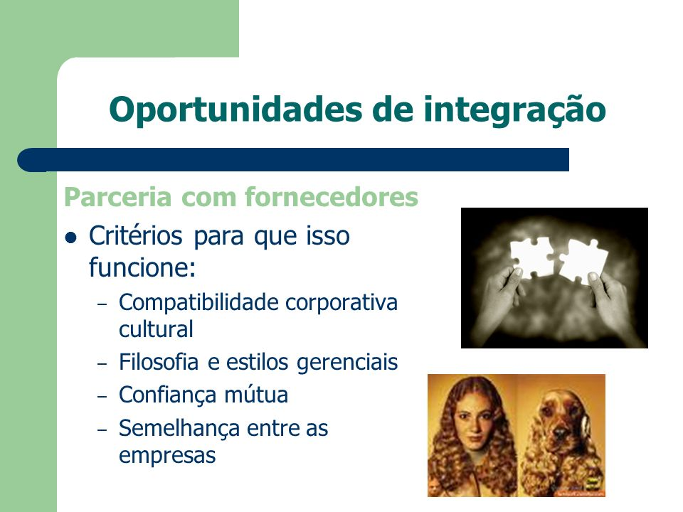 Oportunidades de integração